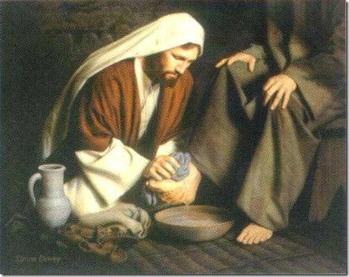 lavapes-jesus lava os pés