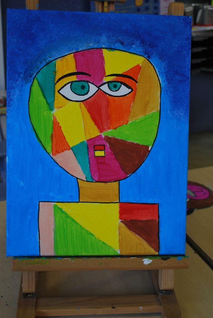 workshop kunst op doek in de klas inspiratie Klee