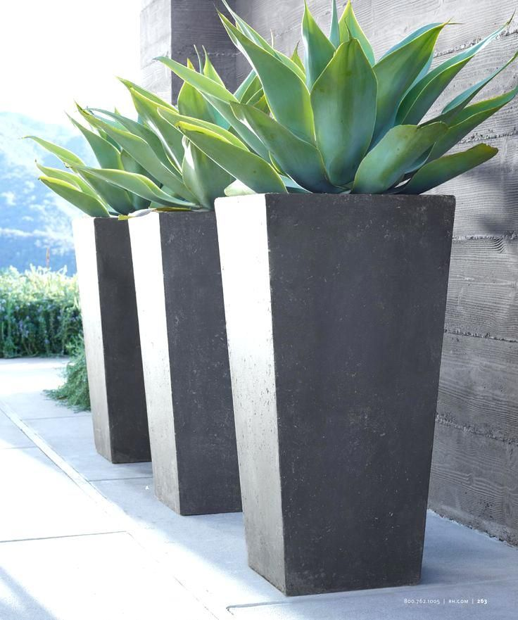 Modern Outdoor Plant Pots Rh Source Books Do Something Singular And Striking Like Th With Images Modern Backyard Landscaping Large Outdoor Planters Modern Planters Outdoor