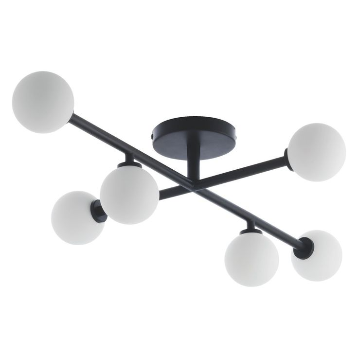 Where To Buy Ceiling Lights: ASTRID Black And White Metal And Glass Ceiling Light