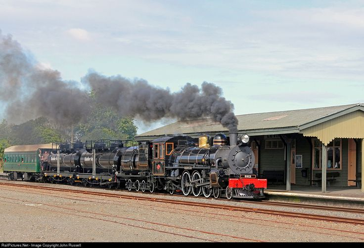 RailPictures.Net Photo: Ab 663 Mainline Steam Heritage Trust Steam 4-6-2 at Levin, New Zealand by John Russell