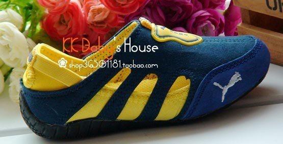 Sepatu Puma Sport Biru Dongker-Kuning3 in stock  Sepatu puma sport, dapat di gunakan untuk boy dan girl, dari bahan suede sol karet lentur. No dus . untuk ketepatan ukuran silakan ukur anak anda dari telunjuk kaki sampai tumit. Rp. 190,000.00