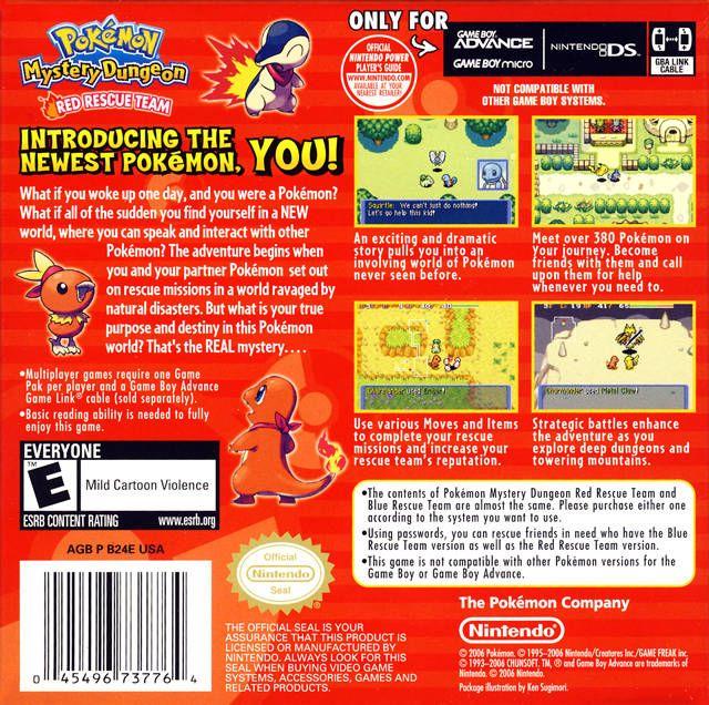 Pokemon Mystery Dungeon  Red Rescue Team URDG ROM