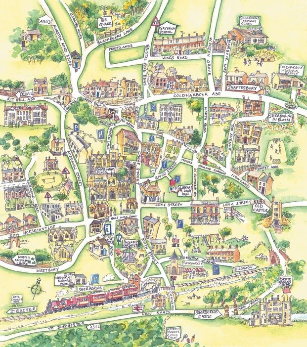 Map of Sherborne