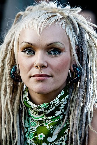 Dread Artist Unknown. Check out Hibiscus Dreads ;) Beautiful make up and piercings.