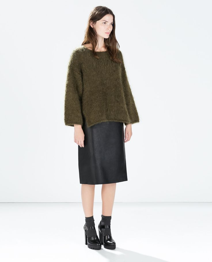 Image 1 of MOHAIR SWEATER WITH BACK TIE from Zara