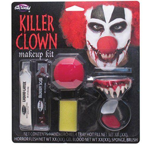 Killer Clown Make Up Kit Order at Promakeuptutor.com #discounts #makeup #makeupforever #promakeuptutor #makeupgeek #sale #sales  #shopping #shoppingonline