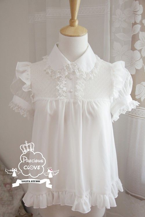 Precious Clove ***Singing in the rain*** Chiffon Lolita Blouse $65.99-Lolita Shirts - My Lolita Dress