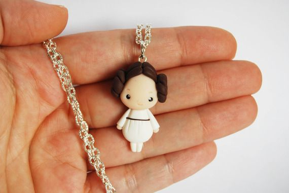 Collana Principessa Leila Star Wars in fimo