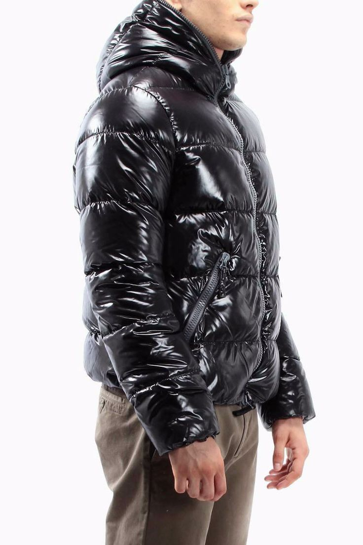 Duvetica Dionisio Shiny Black Down Jacket Shiny Down