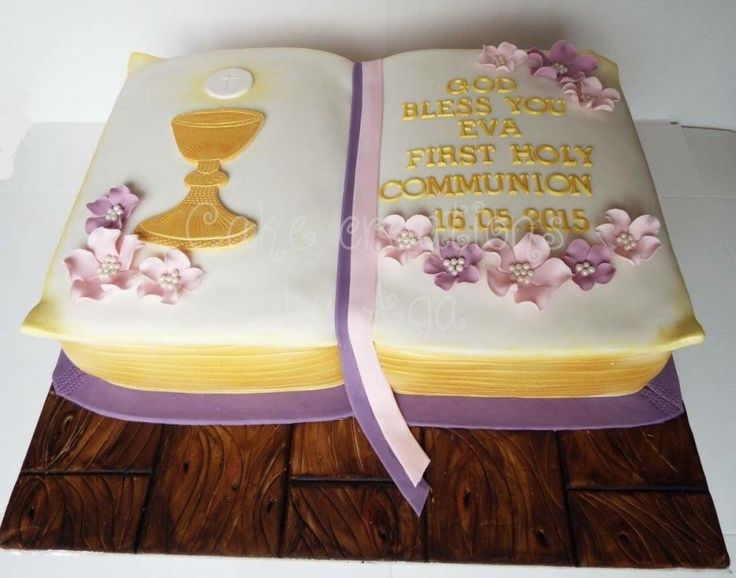 Book communion cake - Cake by Cake Creations by Aga
