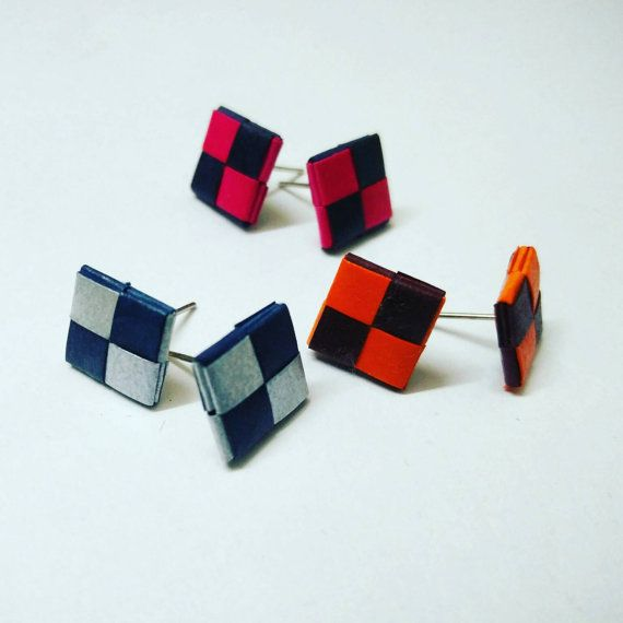 Check out this item in my Etsy shop https://www.etsy.com/listing/269834663/combo-of-3-pairs-weaving-stud-earrings