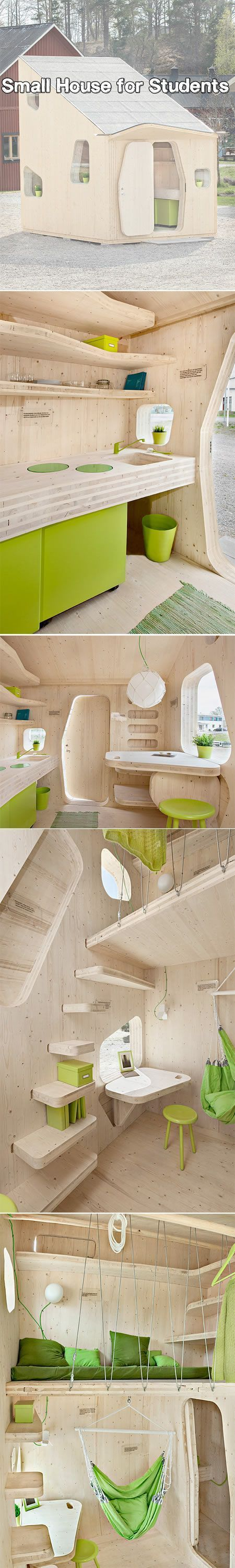 Eco-friendly house made out of wood can be easily transported