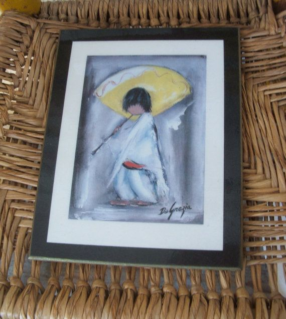 DeGrazia Laminated Wall Plaque Piccolo Pete 7 by lookonmytreasures
