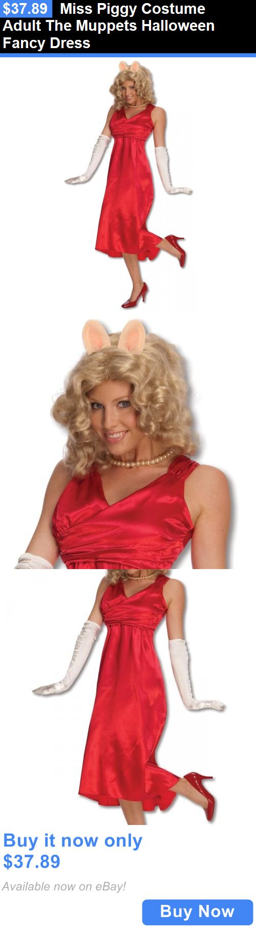 Halloween Costumes Women: Miss Piggy Costume Adult The Muppets Halloween Fancy Dress BUY IT NOW ONLY: $37.89