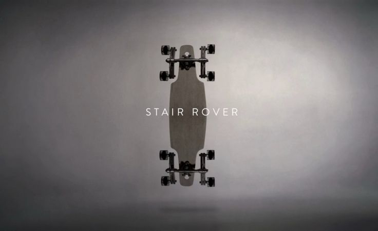 Stair Rover - a longboard on 8 wheels