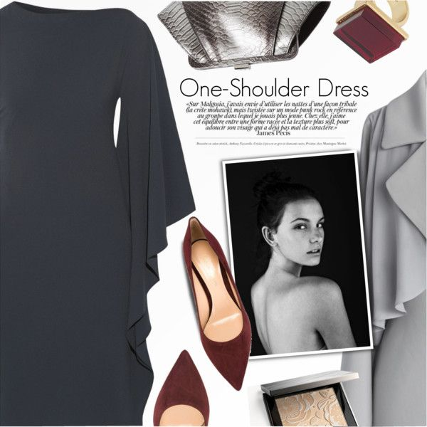 Party Style: One-Shoulder Dress II by anna-anica on Polyvore featuring Cushnie Et Ochs, Chicwish, Gianvito Rossi, ZAC Zac Posen, Trina Turk, Burberry and Bassike
