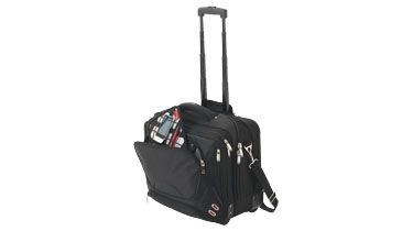 #Trolley aprobado para cabina con amplio compartimento principal con cremallera que incluye funda acolchada extraible para portátil compatible con la TSA, para acelerar el paso por la seguridad del aeropuerto. Más información sobre el #regalo en:  http://www.regalodeempresagsr98.es/regalos-merchandising/maletin-ruedas-viajes-personalizado-119649/