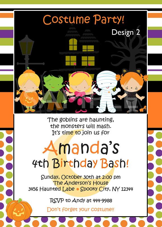 find this pin and more on babykid stuff items similar to custom personalized halloween birthday party - Baby Halloween Birthday Party