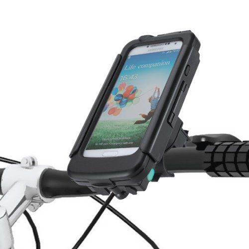 Tigra - Porta-smartphone per bicicletta con batteria di riserva da 2800 mAh, per Samsung Galaxy S4