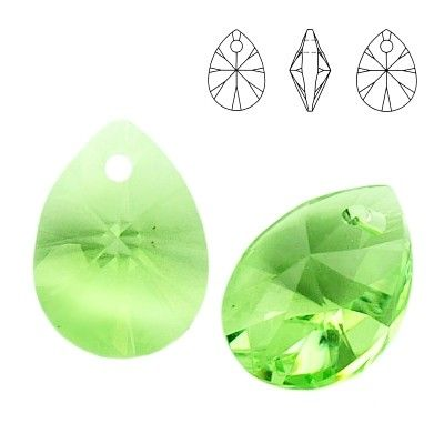 6128 Mini Pear 10mm Peridot  Dimensions: 10,0 mm Colour: Peridot 1 package = 1 piece