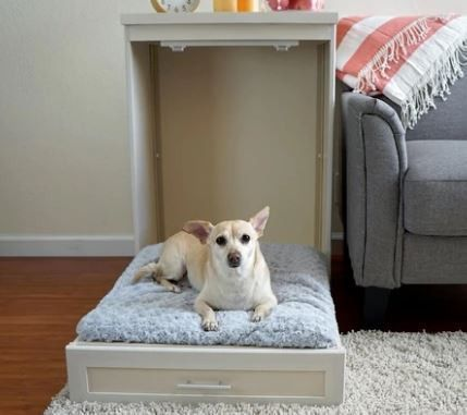 Antique White Murphy Bed For Pets