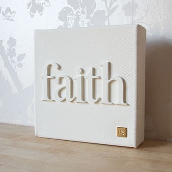 Canvas + wood letters