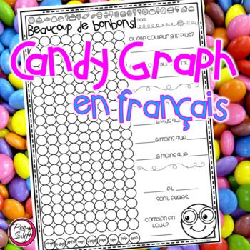 Make Math a little sweeter with this Candy Graph in French ☼ Beaucoup de bonbons! Perfect to use at Halloween and for the 100th Day of School! Includes one graphing activity to use with fun-size boxes of coloured candy (usually smarties or skittles)