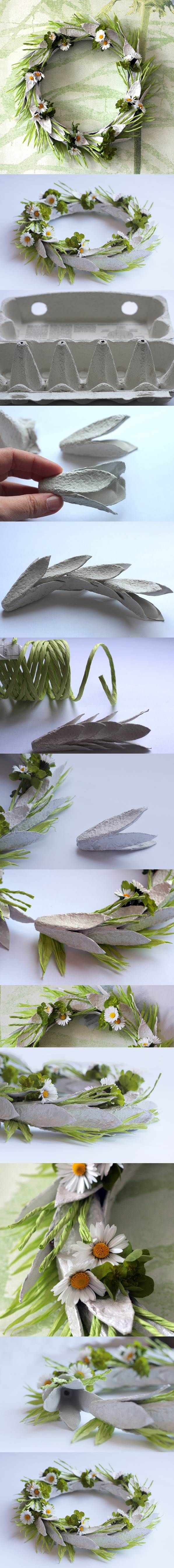 Velikonoční věnec z plata od vajec          Egg Carton Craft - Easter Wreath | iCreativeIdeas.com LIKE Us on Facebook ==> https://www.facebook.com/icreativeideas