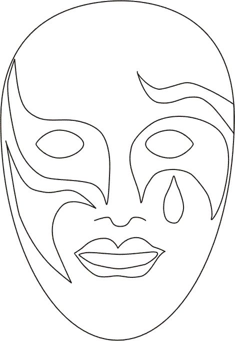 venetian_masks_8 Adult coloring pages