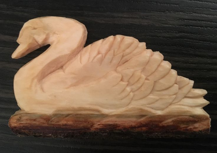 Swan On the Thames Basswood woodcarved July 2017