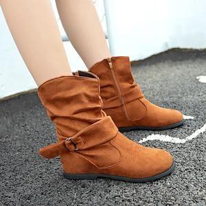d2c8de29d Vintage Style Women Flat Booties Soft Boots Shoes - ILYMIX Accessories