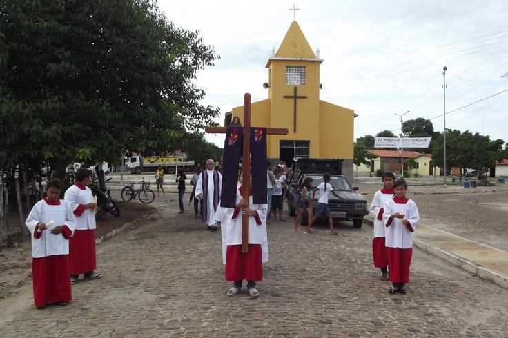 Procissão do encontro de Bom Jesus dos Passos e Nossa Senhora das Dores dá início à Semana Santa  ( Barras - PI )