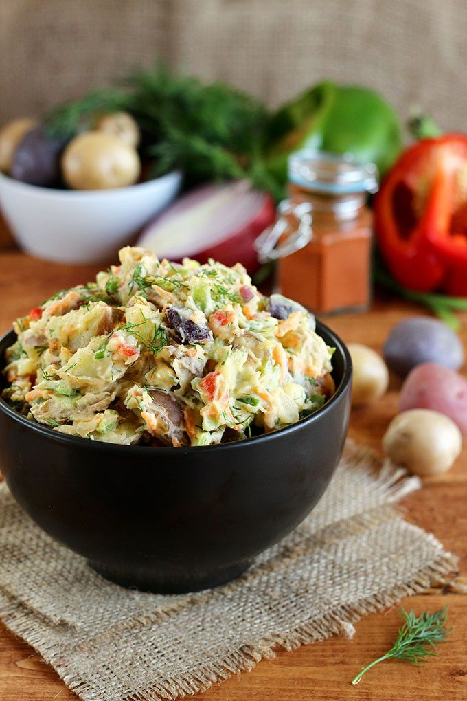 Vegan Rainbow Potato Salad - ilovevegan.com Made this for a Mother's Day luncheon and LOVED it!!