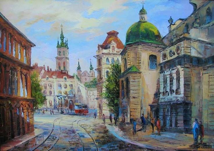 Lviv, Ukraine, painting, from Iryna with love