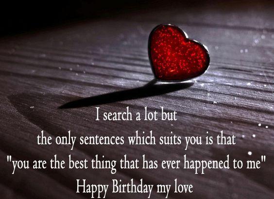 Happy Birthday Wishes For Girlfriend Romantic Birthday Wishes Birthday Wishes For Lover Happy Birthday Love