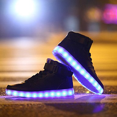 LED Light Up Shoes, Running Shoes 2017 New Arrival Shoes USB charging Best Seller High Top Basket Fashion Sneakers Black / White / Red 4606404 2017 – $29.74
