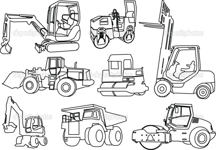 printable coloring pages of construction equipment projects to try pinterest boys. Black Bedroom Furniture Sets. Home Design Ideas