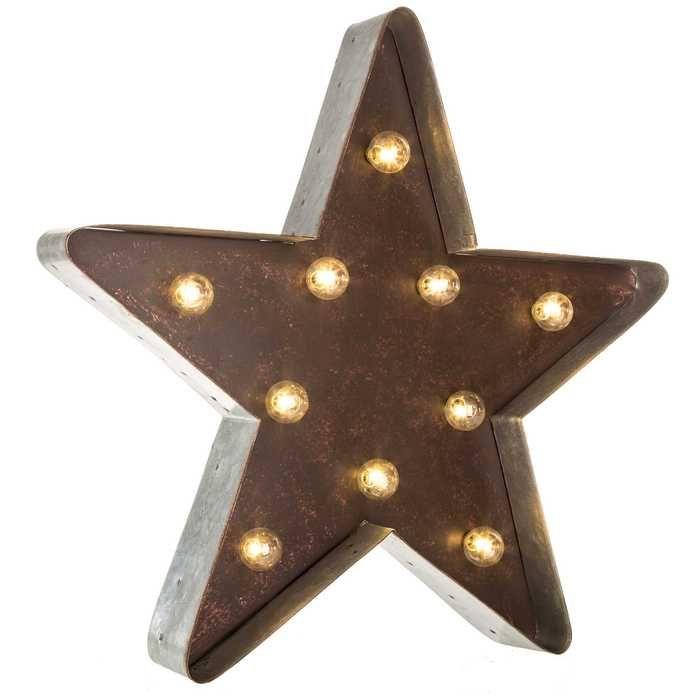 Galvanized Metal LED Marquee Star | Interior | Pinterest | Galvanized ...