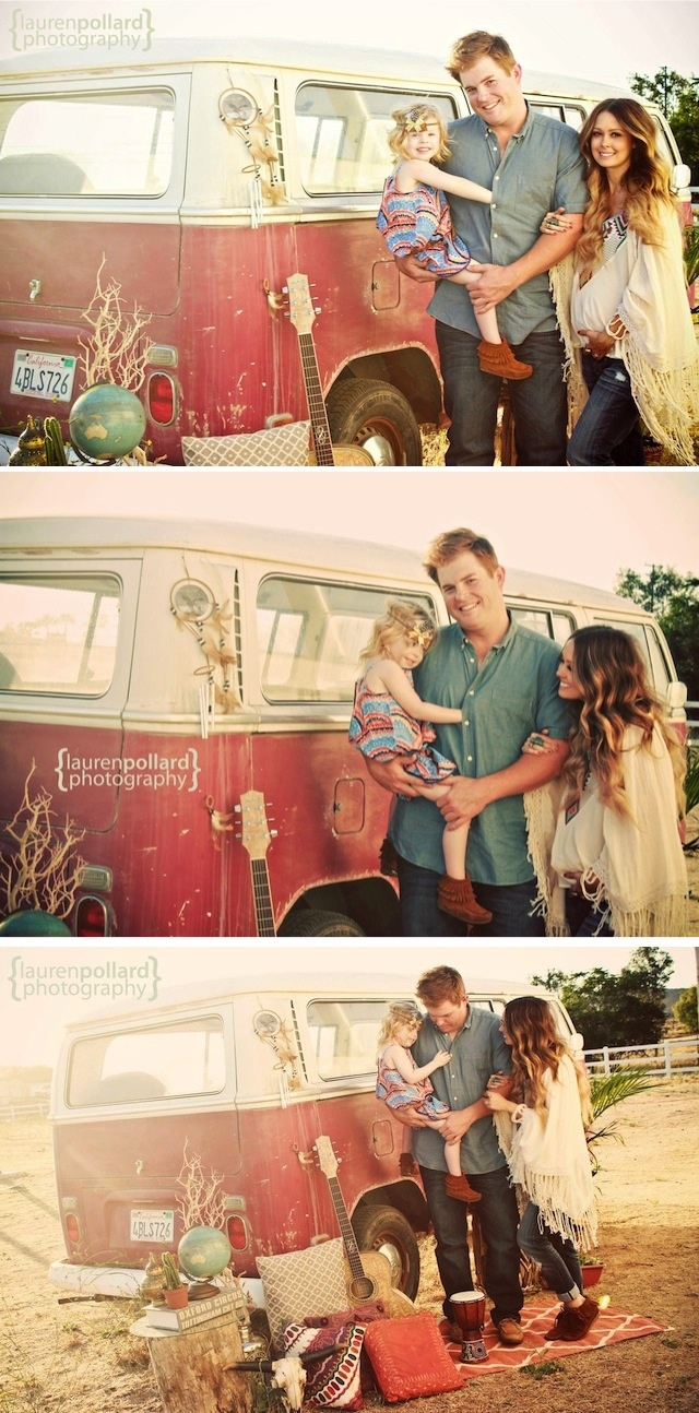 Boho Style Family Session By Lauren Pollard Photography/Fawn Over Baby
