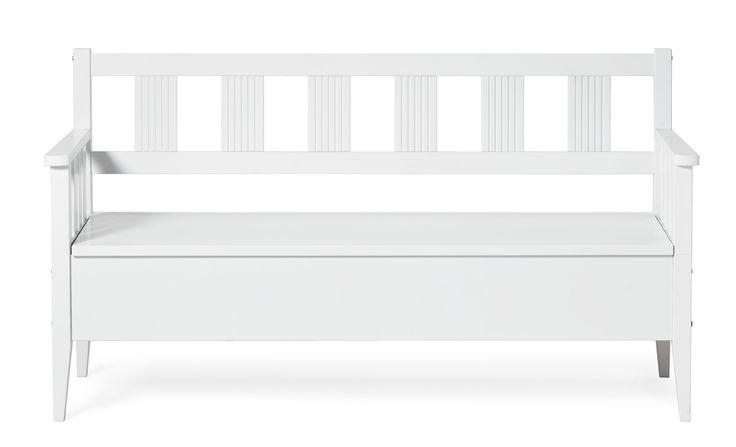 Sundborn är en klassisk kökssoffa i bondromantisk stil. Det är en praktisk sittmöbel med gott om förvaringsutrymme under sitsen. Addera gärna några av dina favorit kuddar för att göra Sundborn kökssoffa extra ombonad. Komplettera gärna med fler delar ur Sundborn serie.