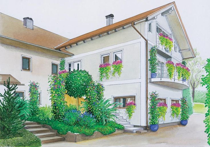 231 best gartengestaltung images on pinterest balcony for Gartengestaltung langer garten