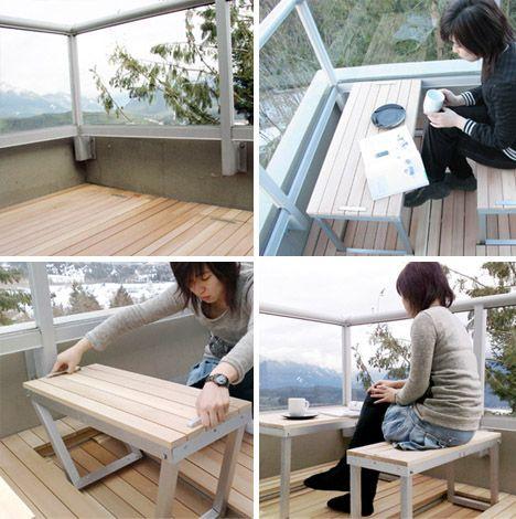 Spaceless Convertible Bench Deck Design