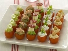 pomodorini ciliegia alle 5 mousse | Ricette | Pinterest | Antipasto, Finger foods and Appetizers