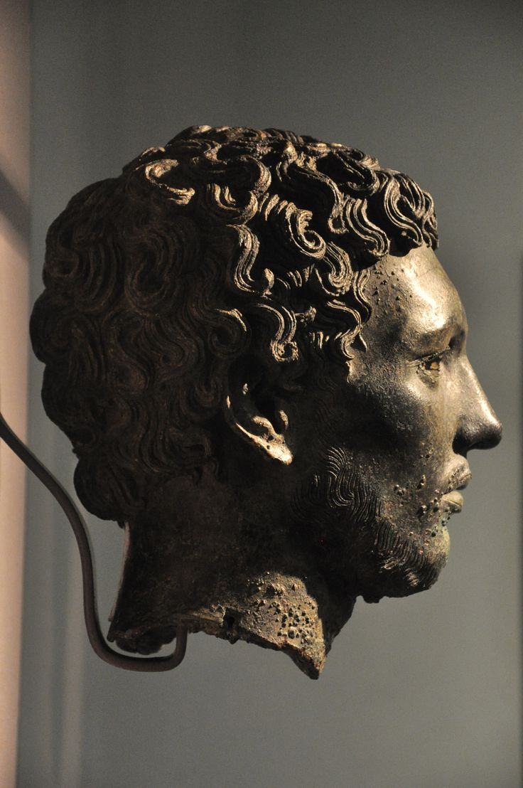 Bronze head of a north African About 300BC The distinctive facial features of this head suggest a north African subject, possibly a native Libyan.