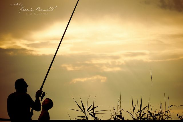 Gone fishing with Grandpa by Geodeta_31, via Flickr