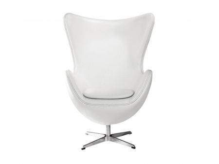 Dodger White Faux Leather Egg Chair | Armchairs from FADS