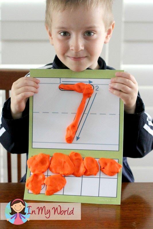 Preschool Number 7 Play Dough Mats