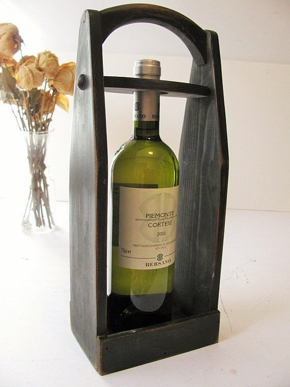 Wood wine carrier Wine tote by WoodaCooda on Etsy