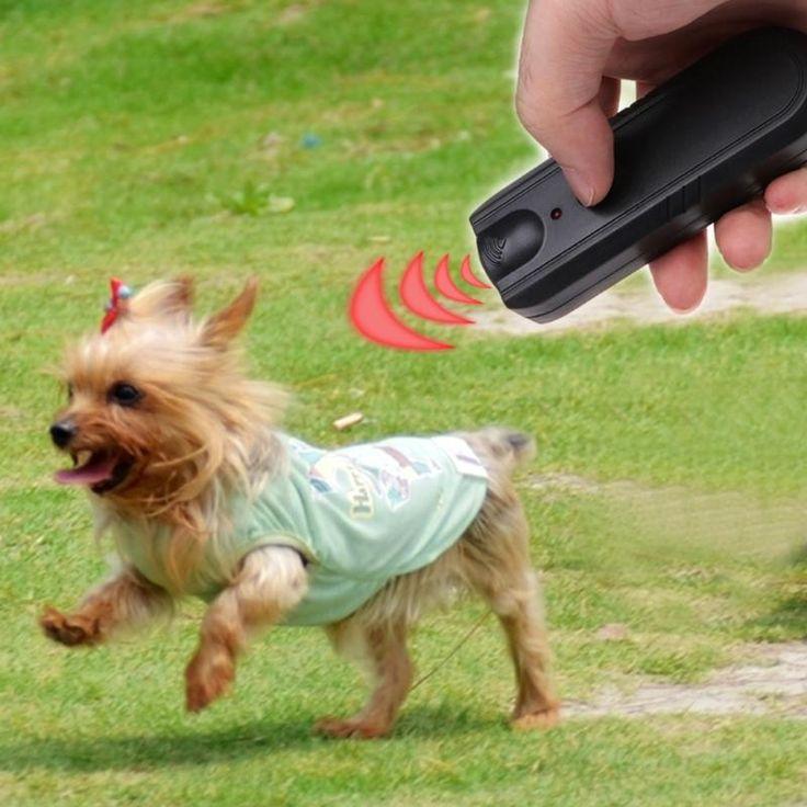 LED Ultrasonic Dog Repeller Animal Training Device Trainer Pet Anti Barking Stop Banish Maching Collier Anti Aboiement